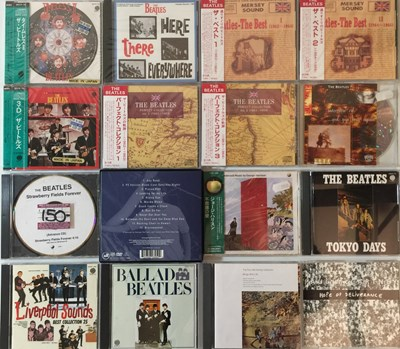 Lot 25-THE BEATLES AND ASSOCIATED - CD COLLECTION (JAPANESE + PROMO)
