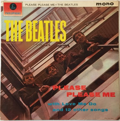 Lot 34-THE BEATLES - PLEASE PLEASE ME LP (2ND UK MONO 'BLACK AND GOLD' - PMC 1202)