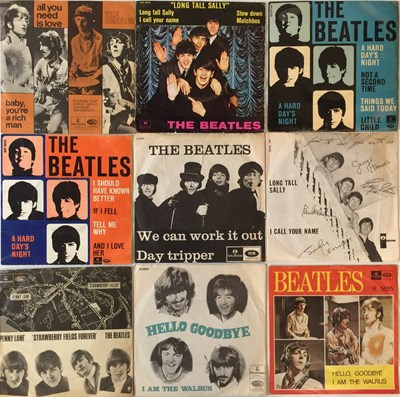 Lot 44-THE BEATLES - DANISH 7'' COLLECTION