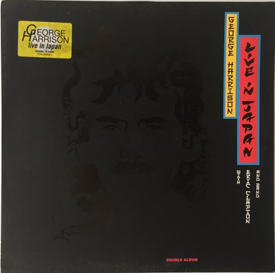Lot 7-GEORGE HARRISON WITH ERIC CLAPTON AND BAND - LIVE IN JAPAN LP (ORIGINAL EU PRESSING - DARK HORSE/WARNER 7599-26964-1)