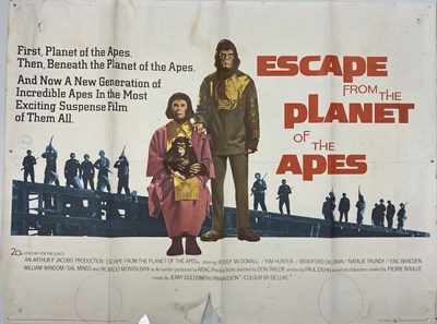 Lot 31-ESCAPE FROM THE PLANET OF THE APES UK QUAD POSTER