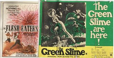 Lot 34-GREEN SLIME UK QUAD / FLESH EATERS 1964 POSTERS