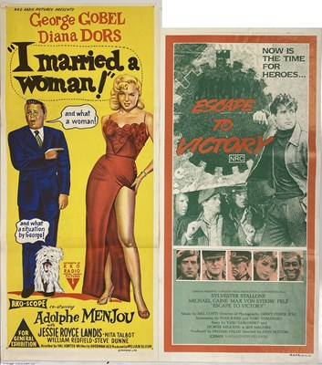 Lot 38-I MARRIED A WOMAN / ESCAPE TO VICTORY AUSTRALIAN DAYBILL POSTERS