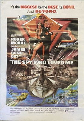 Lot 39-JAMES BOND 1977 SPY WHO LOVED ME POSTER