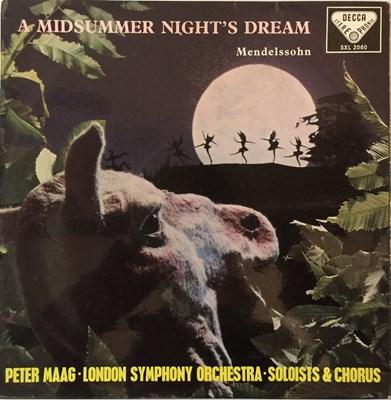 Lot 603 - PETER MAAG/LSO - MENDELSSOHN - A MIDSUMMER NIGHT'S DREAM LP (ORIGINAL DECCA UK STEREO EDITION - SXL 2060)