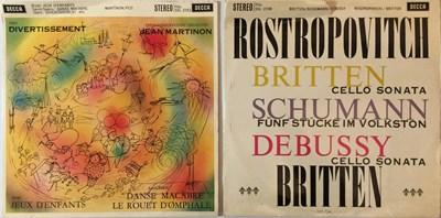 Lot 600 - ROSTROPOVICH/MARTINON - DECCA ED1 SXL LPs.