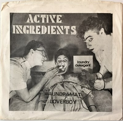 "Lot 17 - ACTIVE INGREDIENTS - LAUNDRAMAT LOVERBOY 7"" (ORIGINAL US RELEASE - ACTIVE RECORDS FRS 018)"