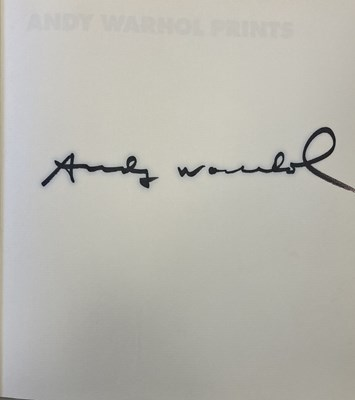 Lot 5A-Andy Warhol - Signed Catalogue Raisonne