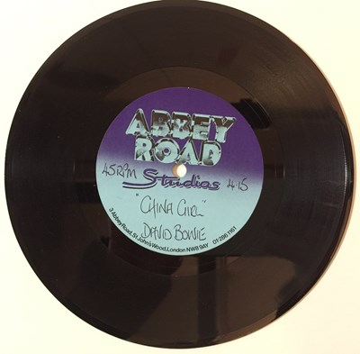 "Lot 41 - David Bowie - China Girl 7"" (Abbey Road Acetate)"