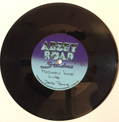 "Lot 42 - David Bowie - Modern Love Live 7"" (Abbey Road Acetate)"