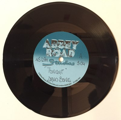 "Lot 43 - David Bowie - Tonight 7"" (Abbey Road Acetate)"