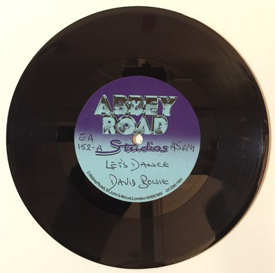 "Lot 44 - David Bowie - Let's Dance 7"" (Abbey Road Acetate)"