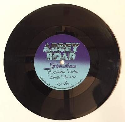 "Lot 46 - David Bowie - Modern Love 7"" (Abbey Road Acetate)"