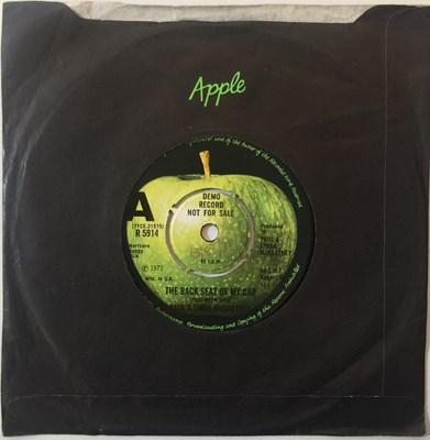 """Lot 1 - Paul & Linda McCartney - The Back Seat Of My Car 7"""" (Original UK Demo - Apple R 5914)"""