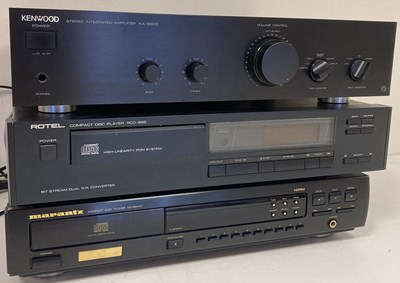 Lot 7 - TURNTABLE AND HI-FI EQUIPMENT - MARANTZ / KENWOOD / ROTEL