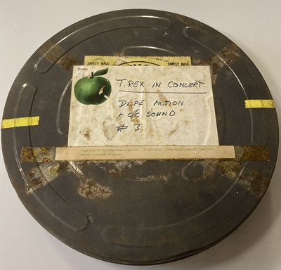Lot 16 - APPLE FILMS CANISTER USED TO HOUSE T.REX IN CONCERT