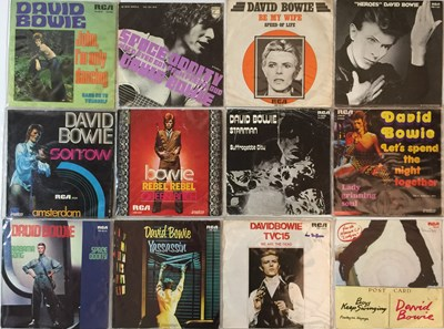 "Lot 16 - David Bowie - European Picture Sleeve 7"" (Mainly 70s)"