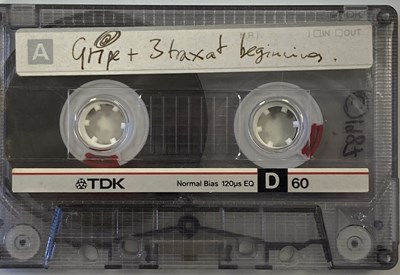 Lot 294 - ON A FRIDAY (RADIOHEAD) GRIPE DEMO CASSETTE WITH UNHEARD TRACKS AND HANDWRITTEN NOTE FROM THOM.
