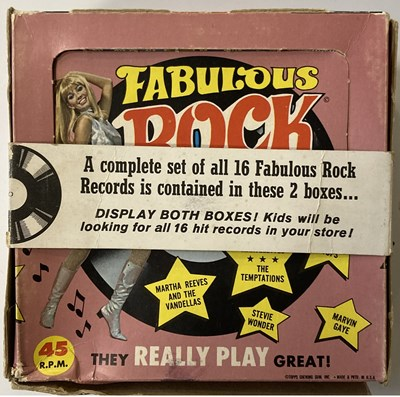 Lot 26 - FABULOUS ROCK RECORDS DISPLAY BOXES WITH FLEXIS