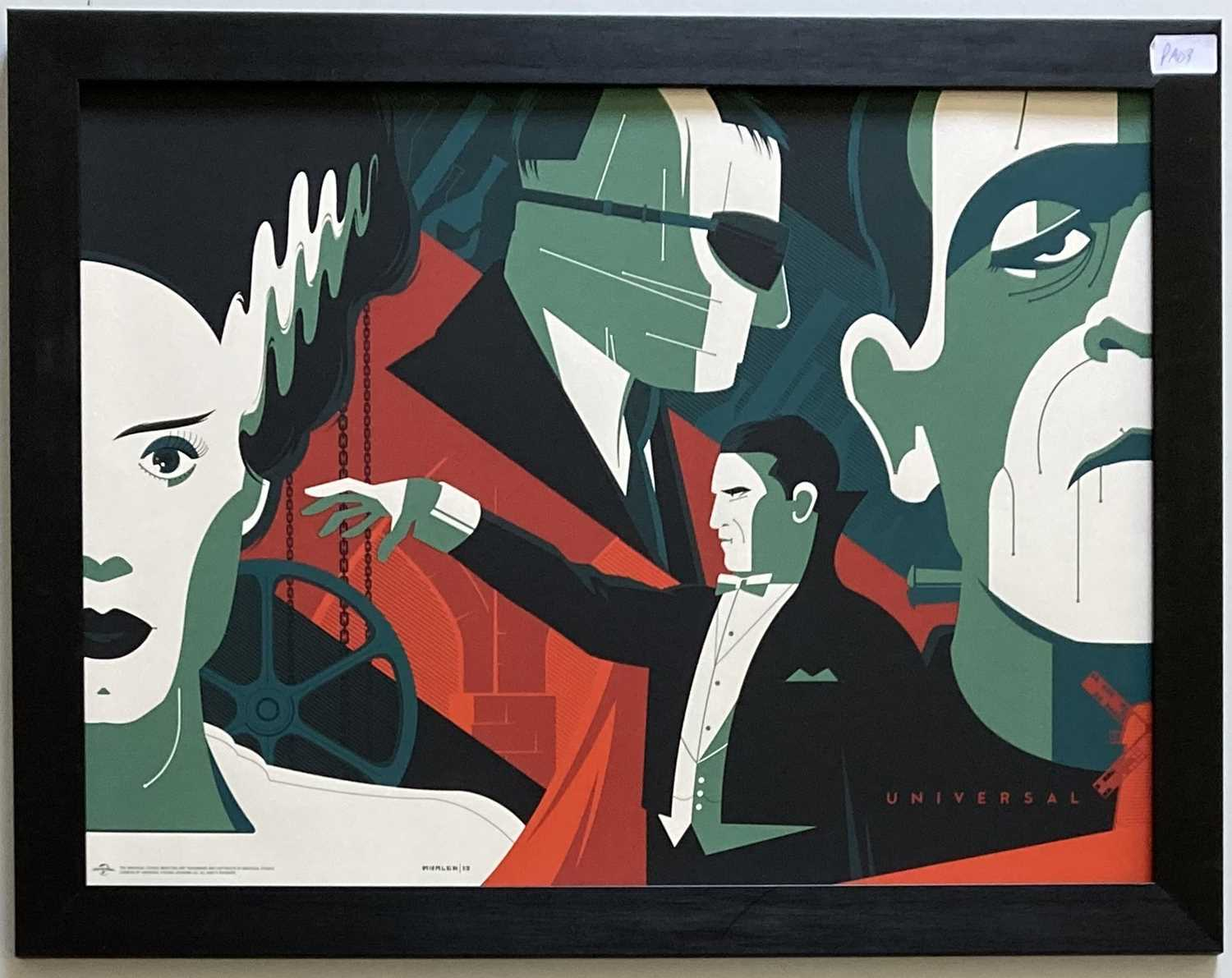 Lot 12 - TOM WHALEN UNIVERSAL MONSTERS LIMITED EDITION PRINT