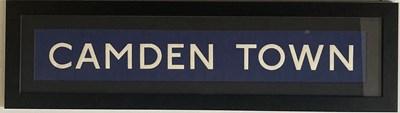 Lot 19 - CAMDEN TOWN TUBE STATION BLIND - FRAMED.