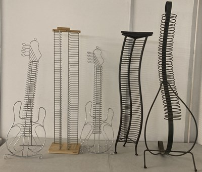 Lot 6 - CD RACKS. Five decorative CD racks. This lot...