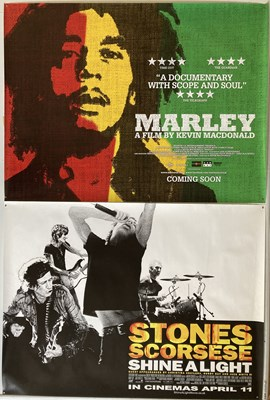 Lot 31 - BOB MARLEY / ROLLING STONES DOCUMENTARY POSTERS.