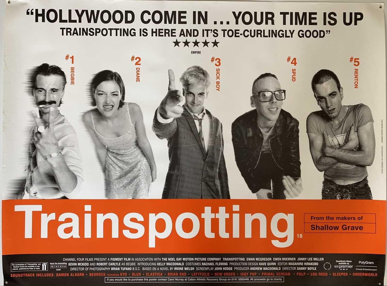 Lot 30 - TRAINSPOTTING UK QUAD FILM POSTER