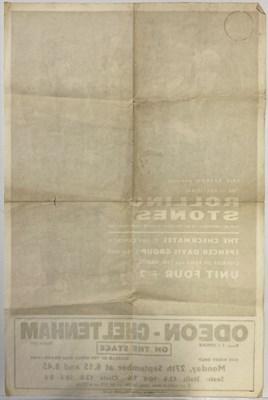 Lot 414 - ROLLING STONES 1965 CHELTENHAM POSTER