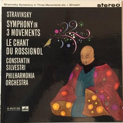 Lot 620 - Constantin Silvestri - Stravinsky Symphony In Three Movements LP (Original UK HMV  Stereo Recording - ASD 401)