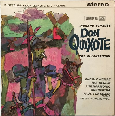 Lot 624 - Rudolf Kempe - Strauss Don Quixote LP (Original UK HMV Stereo Recording - ASD 326)