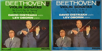Lot 638 - David Oistrakh - Beethoven Violin Sonatas LPs (Original UK Stereo Philips Recordings)