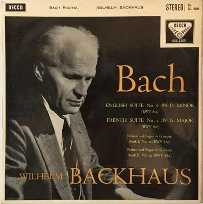 Lot 642 - Wilhelm Backhaus - Bach Recital LP (Original UK ED1 Decca Stereo Recording - SXL 2205)