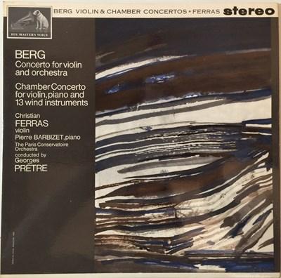 Lot 645 - Christian Ferras - Berg Violin & Chamber Concertos LP (Original UK HMV Stereo Recording - ASD 572)