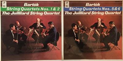 Lot 646 - The Juilliard String Quartet - Bartok String Quartets LPs (Original UK Columbia Stereo Recordings - SAX 5260/5262)