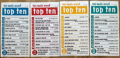 Lot 14 - RECORD STORE TOP TEN & TOP 40/50 1960'S...
