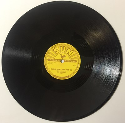 Lot 9 - Jim Williams - Please Don't Cry Over Me 78 (SUN 270)