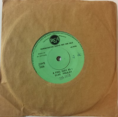 "Lot 33 - Elvis Presley - A Fool Such As I/ I Need Your Love Tonight (UK RCA Single Sided 7"" Demos)"