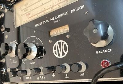 Lot 5 - Avo Universal Measuring Bridge Type 1 and Circa 1960s Military Loudspeaker - lot 5