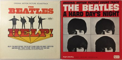 Lot 13 - THE BEATLES - A HARD DAY'S NIGHT & HELP! LPs (ORIGINAL US MONO PRESSINGS - SUPERB COPIES)