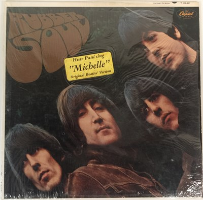 Lot 14 - THE BEATLES - RUBBER SOUL LP (US MONO 1966 PRESSING WITH HYPE STICKER - CAPITOL T-2442)