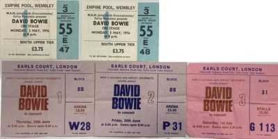 Lot 408 - DAVID BOWIE TICKETS