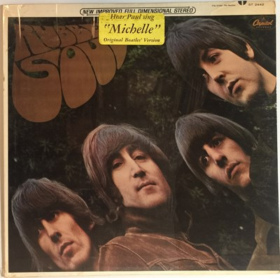 Lot 19 - THE BEATLES - RUBBER SOUL LP (US STEREO PRESSING - CAPITOL ST-2442 - WITH HYPE STICKER)