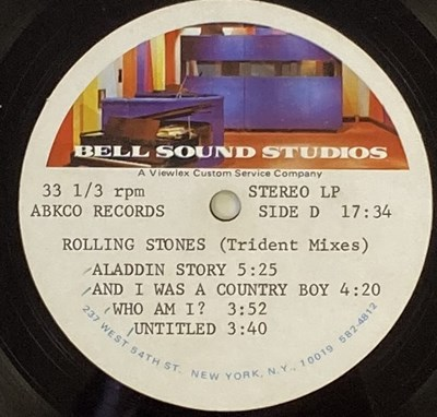 Lot 295 - THE ROLLING STONES - BELL SOUND STUDIOS ACETATE LPs (FOR ABKCO RECORDS)