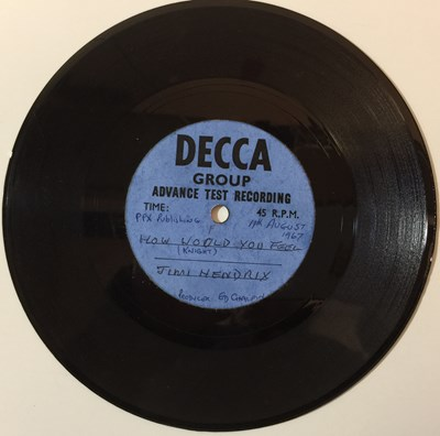 Lot 17-JIMI HENDRIX & CURTIS KNIGHT - HOW WOULD YOU FEEL C/W YOU DON'T WANT ME 7'' ACETATE (DECCA RECORDING)