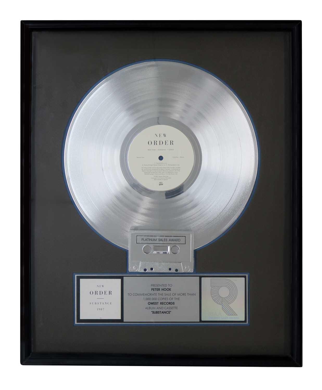 Lot 27 - NEW ORDER SUBSTANCE RIAA PLATINUM DISC