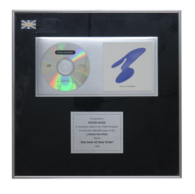 Lot 28 - NEW ORDER (THE BEST OF) NEW ORDER AWARD DISC