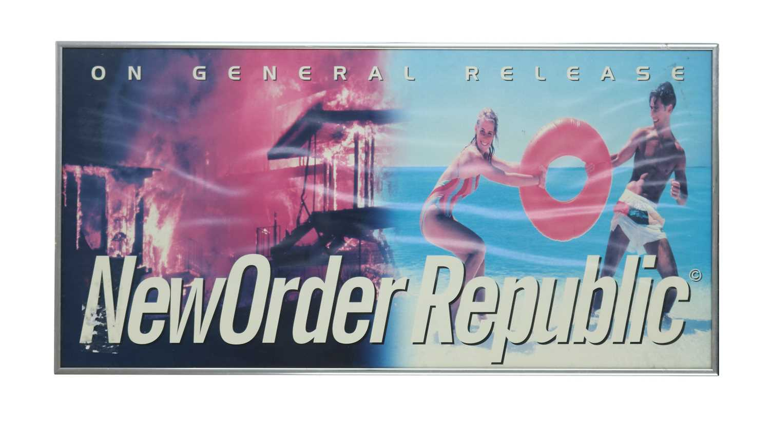 Lot 34 - NEW ORDER LONDON RECORDS PROMO POSTER GIFT