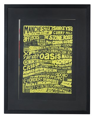 """Lot 38 - MICHAEL WYLIE """"MANCHESTER POSTER"""" 2014"""