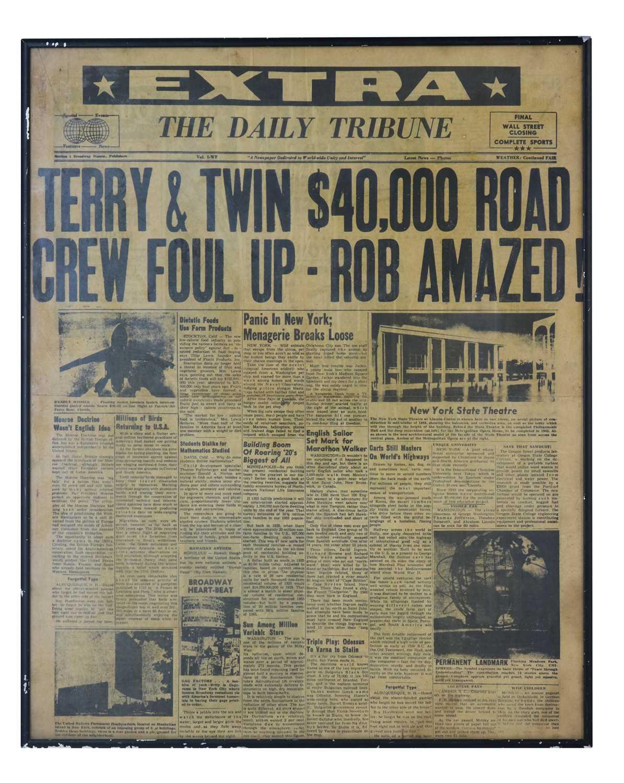 Lot 40 - TERRY AND TWINNY NEWSPAPER HEADLINE, FRAMED